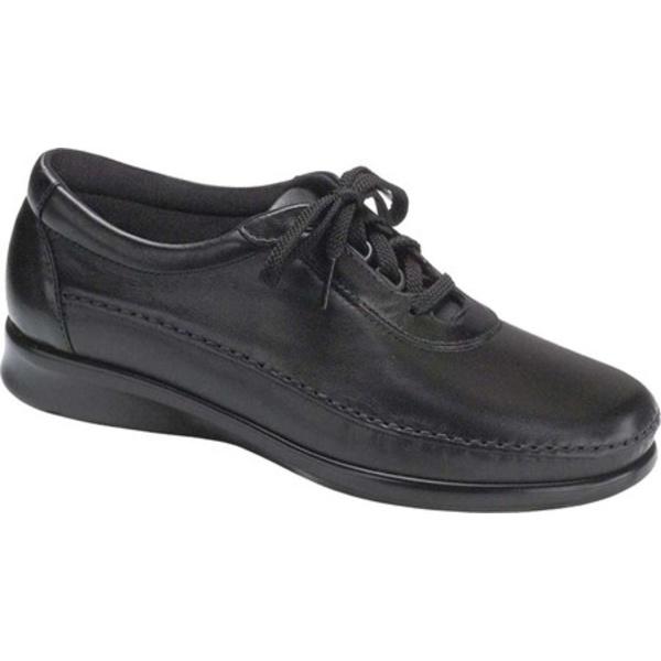 エスエーエス レディース スニーカー シューズ Traveler Walking Shoe Black Leather