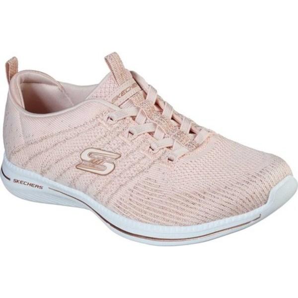 スケッチャーズ レディース スニーカー シューズ City Pro Glow On Sneaker Light Pink/Rose Gold