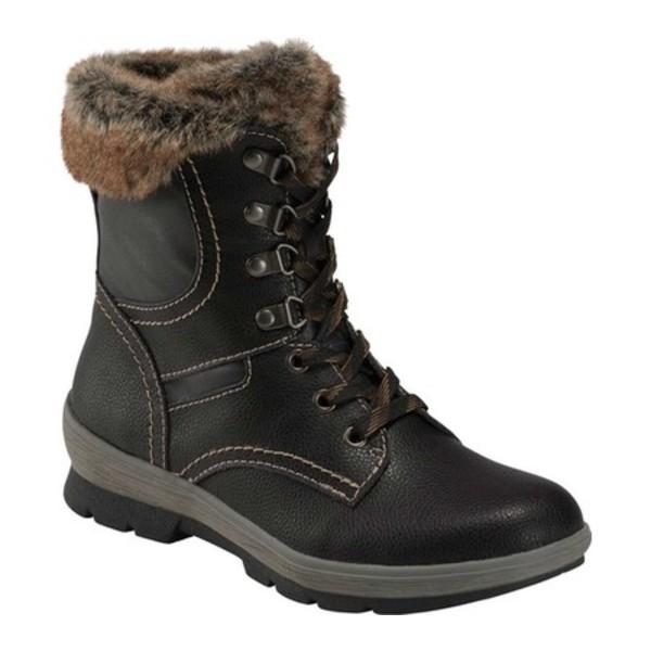 アースオリジン レディース ブーツ&レインブーツ シューズ Sherpa Serenity Ankle Boot Black Leather