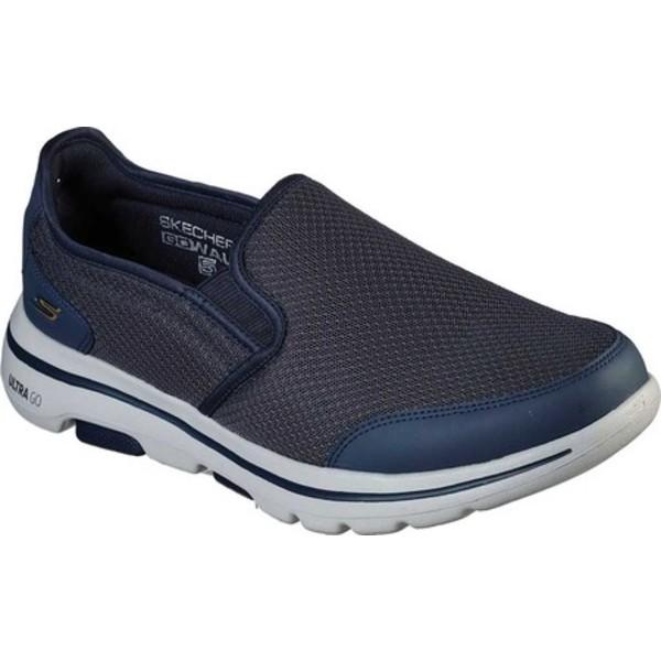 スケッチャーズ メンズ スニーカー シューズ GOwalk 5 Delco Slip On Sneaker Navy/Gray