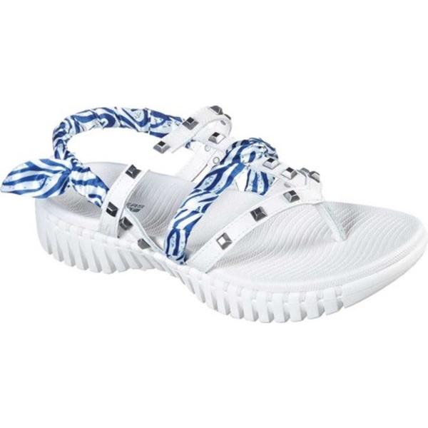 スケッチャーズ レディース スニーカー シューズ GOwalk Smart Verona Thong Sandal White/Blue