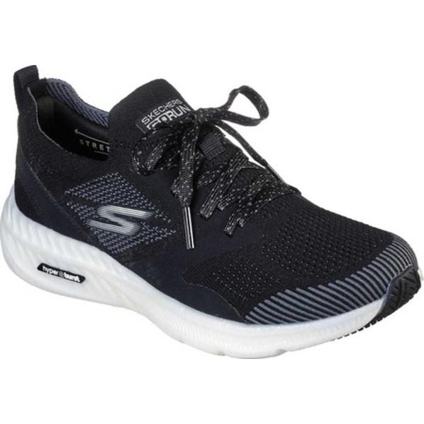 スケッチャーズ レディース スニーカー シューズ GOrun Smart Hyper Sneaker Black/White