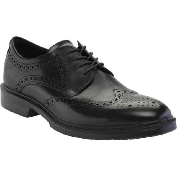 エコー メンズ ドレスシューズ シューズ Maitland Wing Tip Brogue Black Leather