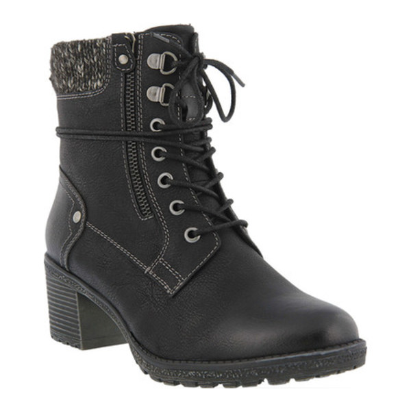 スプリングステップ レディース ブーツ&レインブーツ シューズ Hellewn Ankle Boot Black Synthetic