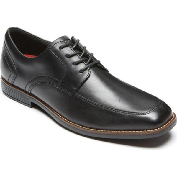 ロックポート メンズ ドレスシューズ シューズ Slayter Apron Toe Oxford Black Leather