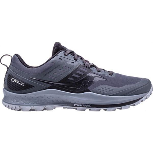 サッカニー メンズ スニーカー シューズ Peregrine 10 GTX Trail Running Shoe Grey/Black Trail Specific Mesh