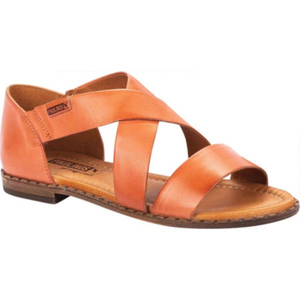 ピコリーノス レディース サンダル シューズ Algar Strappy Sandal W0X-0552 Scarlet Calfskin