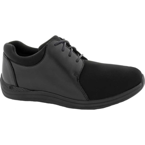ドリュー レディース オックスフォード シューズ Clover Oxford Black Leather/Stretch Lycra