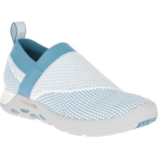 メレル レディース スリッポン・ローファー シューズ Bondi Stretch AC+ Sneaker Blue Smoke Knit
