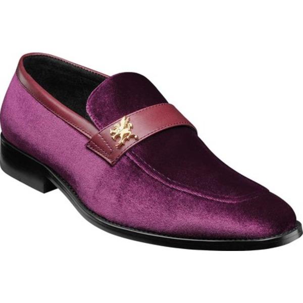 ステイシーアダムス メンズ ドレスシューズ シューズ Bellino Loafer Purple Velour/Leather