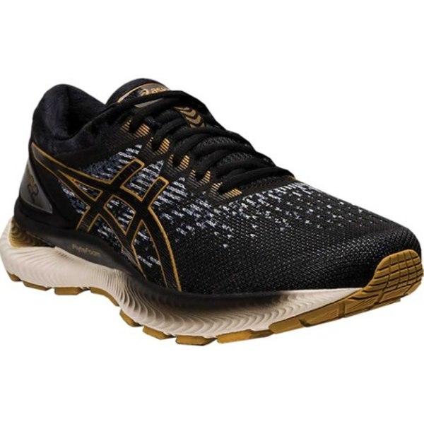 アシックス メンズ スニーカー シューズ GEL-Nimbus 22 Knit Running Sneaker Black/Black