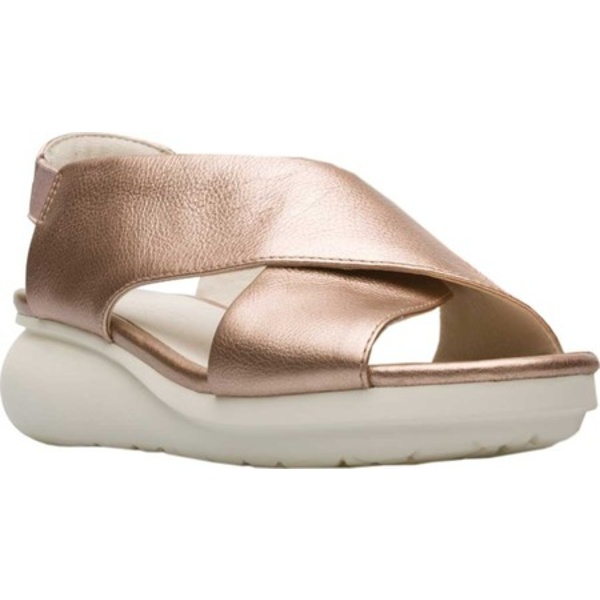 カンペール レディース スニーカー シューズ Balloon Slingback Sandal Light Pastel Pink Metallic Full Grain Leather