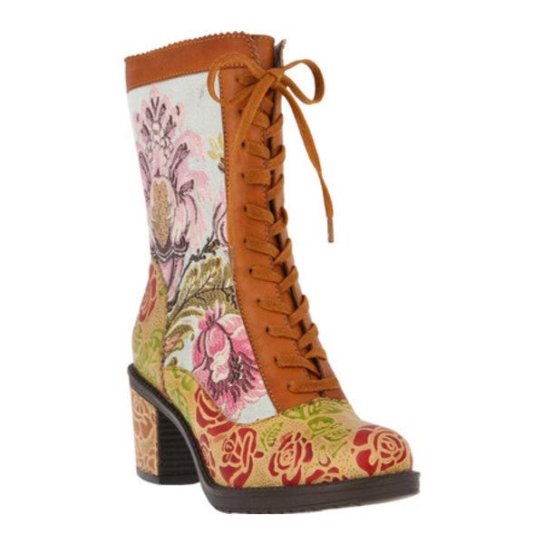 スプリングステップ レディース ブーツ&レインブーツ シューズ Casandra Boot Camel Leather/Fabric