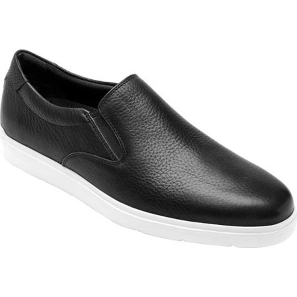 ロックポート メンズ スニーカー シューズ Total Motion Lite Slip On Black Leather