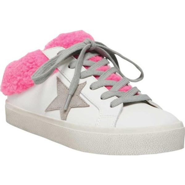 スティーブ マデン レディース スニーカー シューズ Polaris Slip-On Sneaker White/Pink Leather