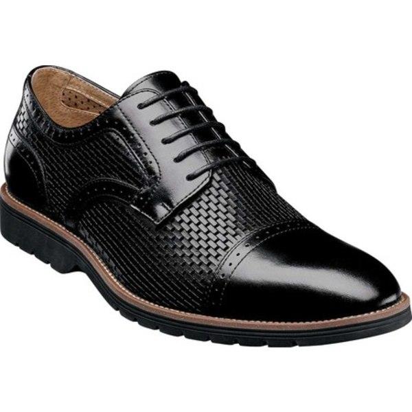 ステイシーアダムス メンズ ドレスシューズ シューズ Ellery Cap Toe Oxford Black Leather