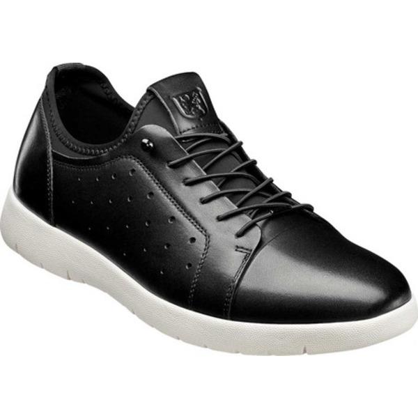 ステイシーアダムス メンズ ドレスシューズ シューズ Halden Cap Toe Sneaker Black Burnished Smooth Leather