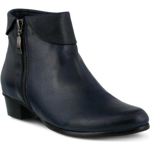 スプリングステップ レディース ブーツ&レインブーツ シューズ Stockholm Navy Leather
