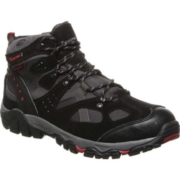 ベアパウ メンズ ブーツ&レインブーツ シューズ Brock Wide Hiking Boot Black/Grey Suede/Mesh