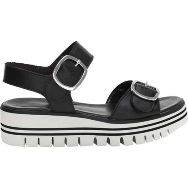 ガボール レディース サンダル シューズ 44-624 Platform Wedge Sandal Black Leather