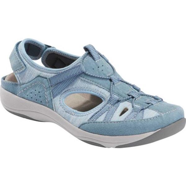 アースオリジン レディース サンダル シューズ Skye Sonoma Closed Toe Sandal Moroccan Blue Chrome Free Pig Suede