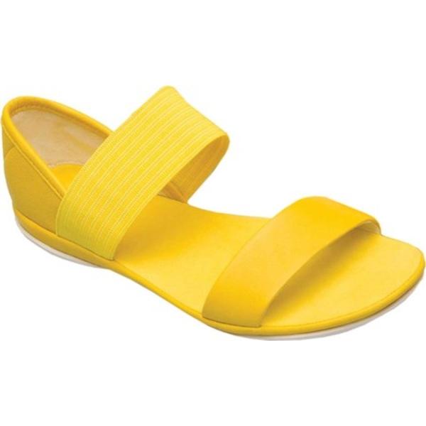 カンペール レディース スニーカー シューズ Right Nina Sandal Medium Yellow Full Grain Leather