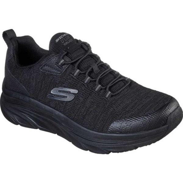スケッチャーズ メンズ スニーカー シューズ Relaxed Fit D'Lux Walker Pensive Sneaker Black/Black