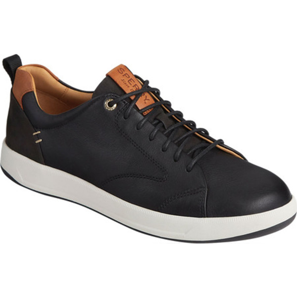 トップサイダー メンズ ブーツ&レインブーツ シューズ Gold Cup Richfield Plushwave LLT Sneaker Black Full Grain Leather