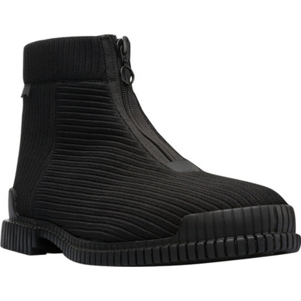 カンペール メンズ ブーツ&レインブーツ シューズ Pix Zip Ankle Boot Black Polyester/Calfskin