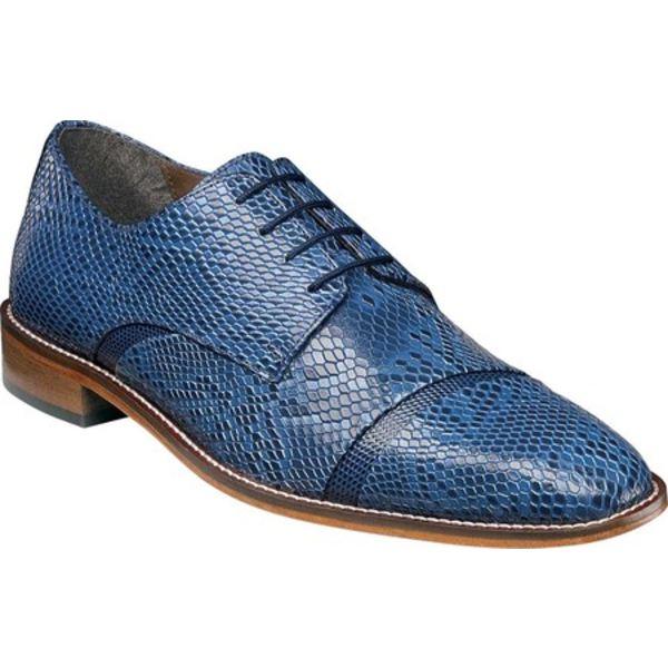 ステイシーアダムス メンズ ドレスシューズ シューズ Rizzo Cap Toe Derby 25086 Blue Python/Iguana Print Leather