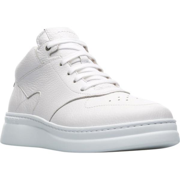 カンペール レディース スニーカー シューズ Runner Up Mid Top Sneaker White Textured Leather