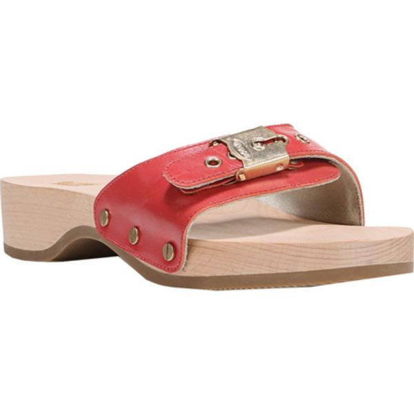 ドクターショール レディース サンダル シューズ Original Slide Sandal Red Leather
