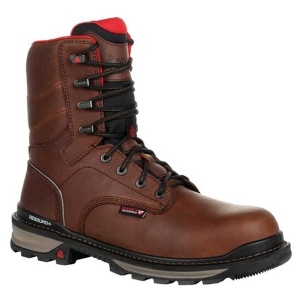 ロッキー メンズ ブーツ&レインブーツ シューズ Rams Horn Composite Toe Waterproof Work RKK0297 Dark Brown Leather