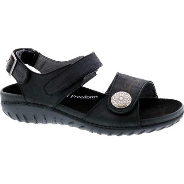 ドリュー レディース サンダル シューズ Workaround Ankle Strap Sandal Black Leather