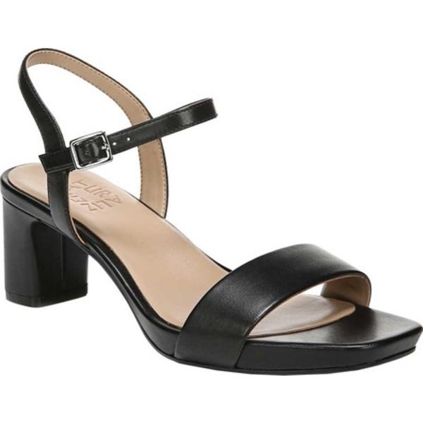 ナチュライザー レディース サンダル シューズ Ivy Ankle Strap Sandal Black Leather