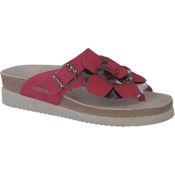 メフィスト レディース サンダル シューズ Helen Flower Toe Loop Sandal Red Sandalbuck Nubuck