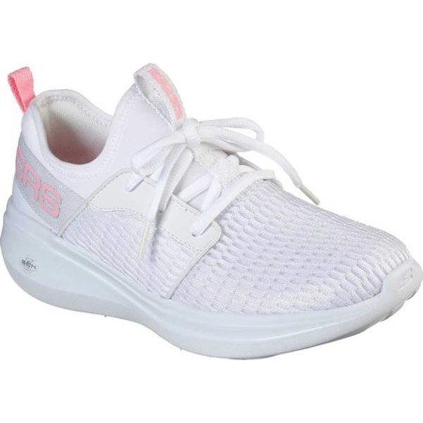 スケッチャーズ レディース スニーカー シューズ GOrun Fast Glimmer Sneaker White/Pink