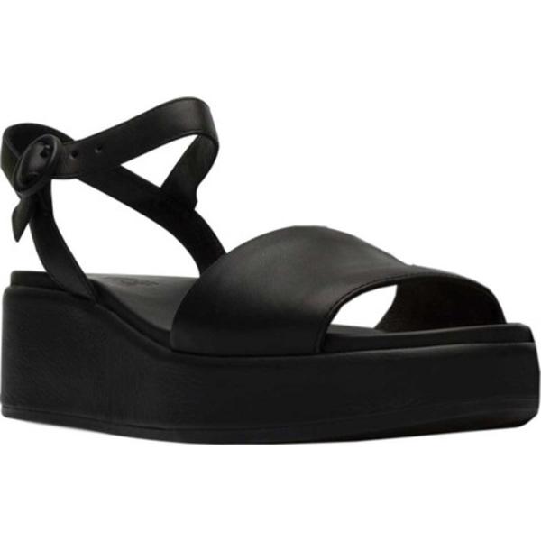 カンペール レディース スニーカー シューズ Misia Platform Sandal Black Supersoft Leather