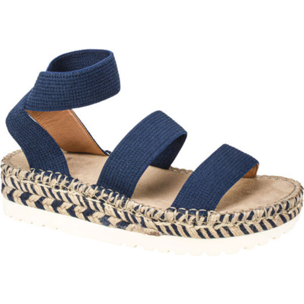 ホワイトマウンテン レディース サンダル シューズ Kolton Ankle Strap Sandal Navy Elastic/Fabric