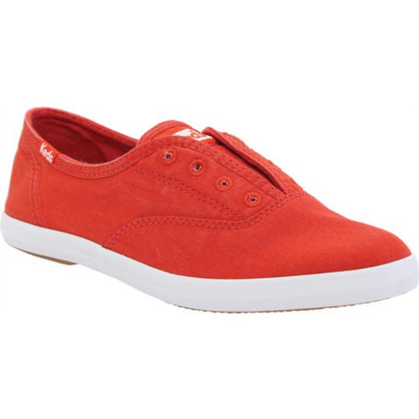 ケッズ レディース スニーカー シューズ Chillax Sneaker Red Washed Twill Fabric