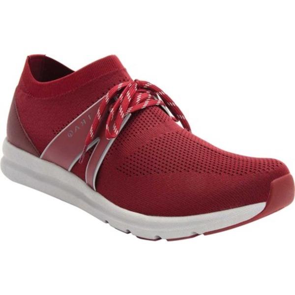 アレグリア メンズ スニーカー シューズ TRAQ Qool Sneaker Maroon Dream Knit