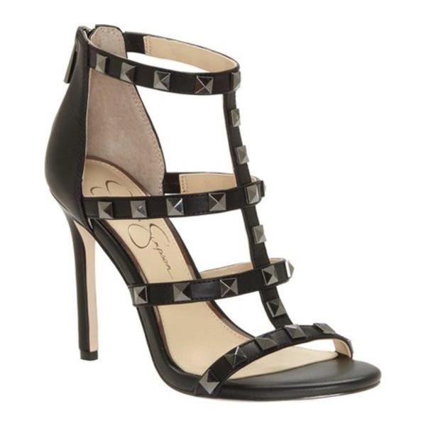 ジェシカシンプソン レディース サンダル シューズ Jiria Studded Stiletto Sandal Black Synthetic