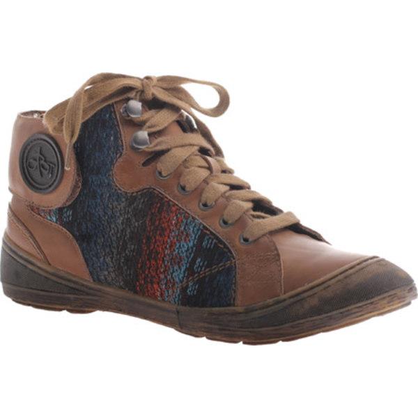 オーティービーティー レディース スニーカー シューズ Providence Sneaker Dark Brown Leather