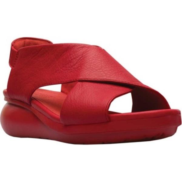 カンペール レディース スニーカー シューズ Balloon Slingback Sandal Medium Red Full Grain Leather