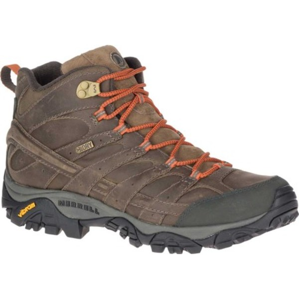 メレル メンズ ブーツ&レインブーツ シューズ Moab 2 Prime Mid Waterproof Hiking Boot Canteen Full Grain Leather