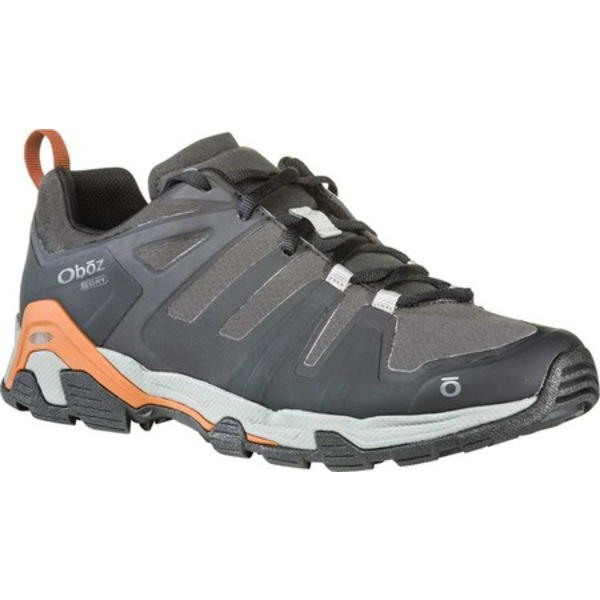オボズ メンズ ブーツ&レインブーツ シューズ Arete Low B-DRY Trail Shoe Black/Copper Jacquard Woven Mesh
