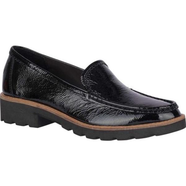 トップサイダー レディース スリッポン・ローファー シューズ Authentic Original Lug Loafer Black Premium Leather