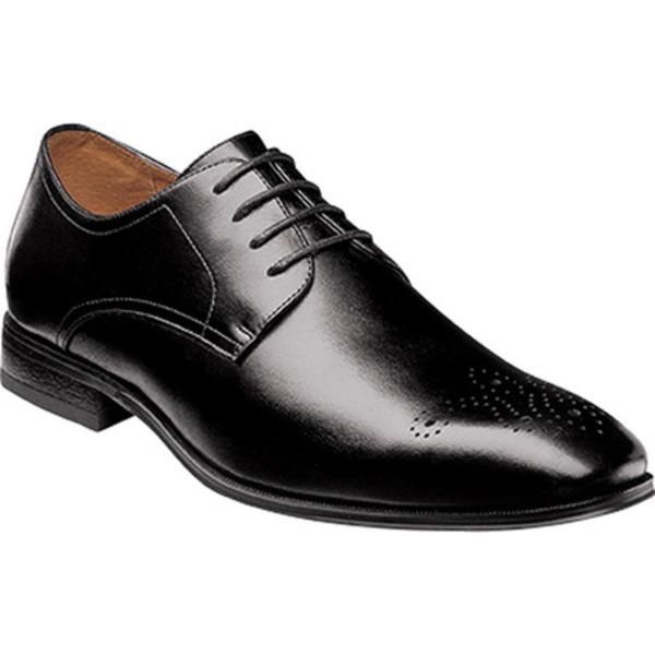 フローシャイム メンズ ドレスシューズ シューズ Corbetta Medallion Toe Oxford Black Full Grain Leather