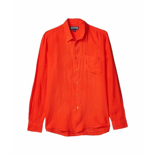 ヴィルブレクイン メンズ シャツ トップス Caroubis Solid Linen Shirt Nefle