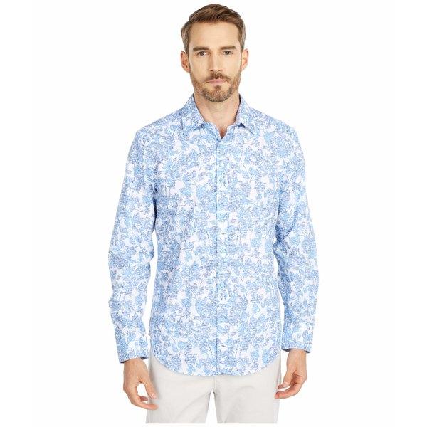 ロバートグラハム メンズ シャツ トップス Island Gardens Button-Up Shirt Blue
